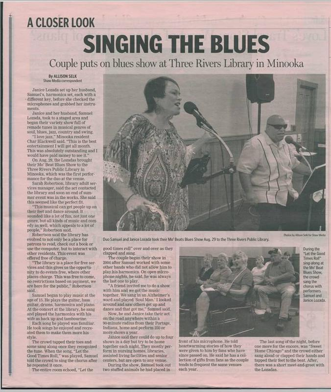 "The Herald-News ""Couple Sings The Blues Article"""